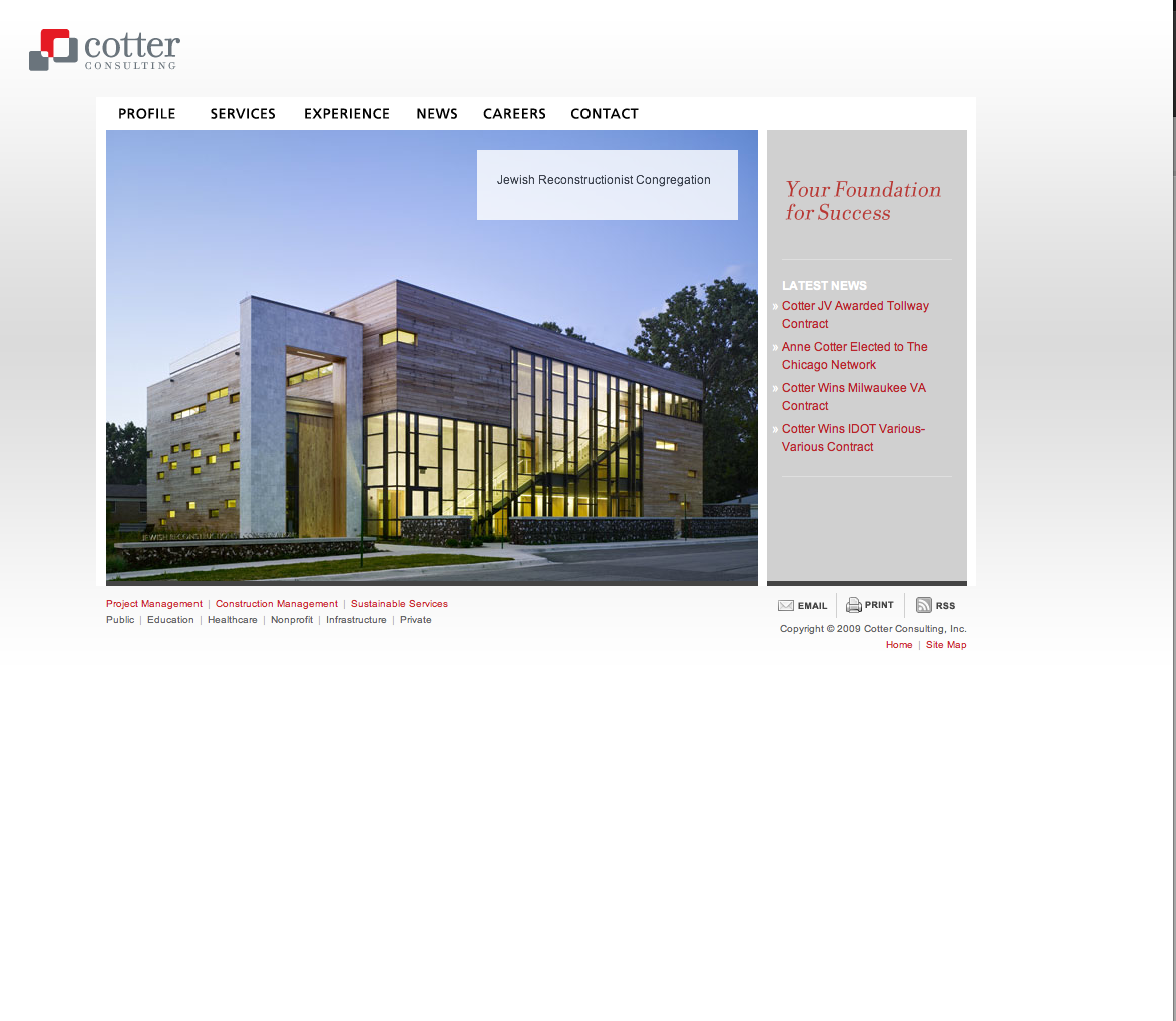 cotter consulting - website